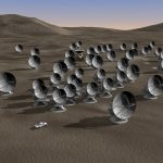 Artist's impression of the ALMA array