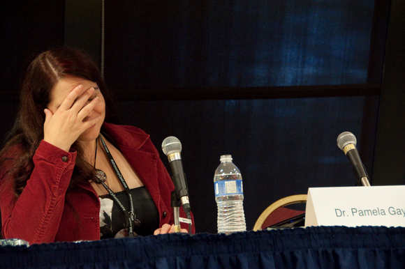Pamela facepalm. Photo courtesy Chuck Tomasi