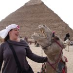 Pamela, a pyramid and a camel.