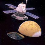 The Viking Orbiter, releasing the lander. Image credit: NASA