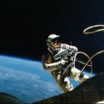 Ed White, spacewalking in a hostile universe