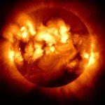 Many solar flares. Image credit: JAXA