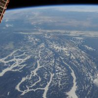 A view of rivers in Montana, USA, from the ISS. Credit: ESA/Luca Parmitano.